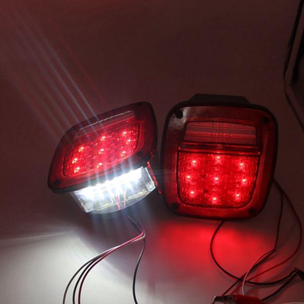 best selling 2pcs X Led Tail Lights For Jeep TJ Wrangler 1997 1998 1999 2000 2001 2002 2003 2004 2005 2006