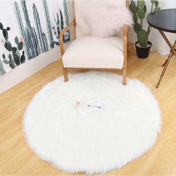 sheepskin rug round arts soft bedroom