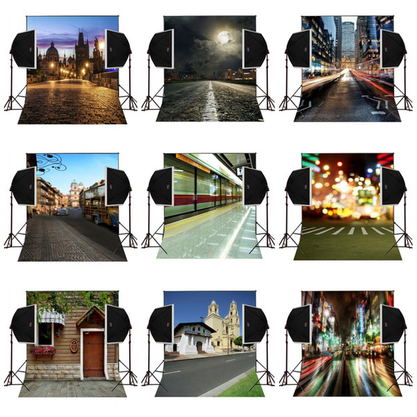 custom 5X7FT city architecture scenic vinyl photography backdrop photo background digital music studio prop comunion decoracion for party