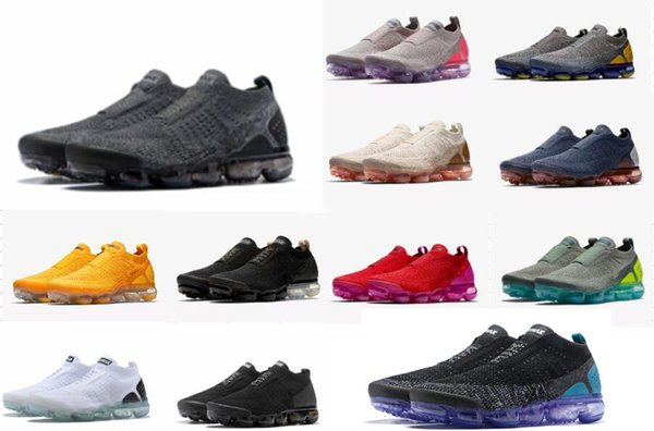 2019 Moc 2.0 Releasing Mens Laceless Multicolor Chaussures Triple Black For Mens Running Shoes Sneakers For Women Racer Shoes Size 36 45