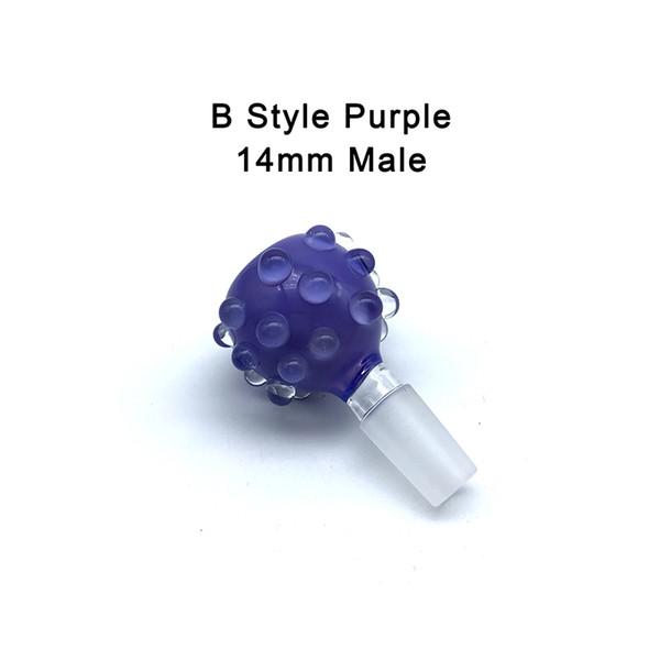 B- 14mm Male Purple