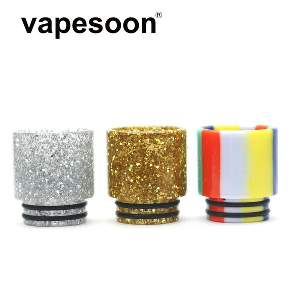 VapeSoon Wholesale 810 Resin Drip Tip USD Candy Style For TFV8 TFV12 Falcon King etc DHL Free Shipping