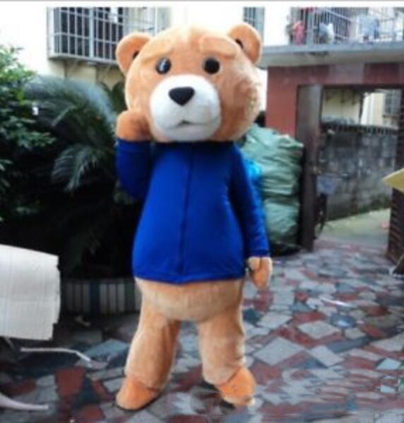 2019 Großverkauf der Fabrik ADULT Mascot Costume Bear Kostüm Halloween Cardival