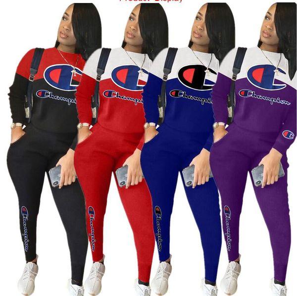 Bayan kıyafetler uzun kollu 2 parça set eşofman koşu sportsuit hoodie legging kıyafetler sweatshit tayt spor suit sıcak klw
