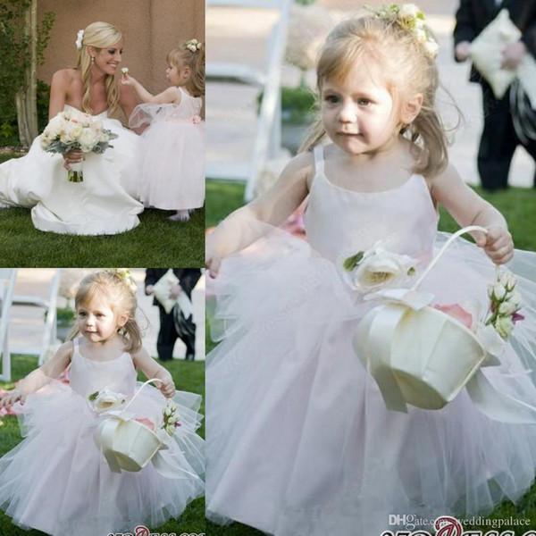 2019 Newest Scoop Garden Flower Girl Dresses Tulle Girls Pageant Dresses First Communion Dresses For Wedding