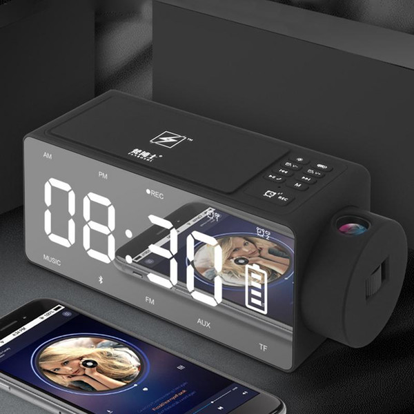 2019 Wireless Charging Alarm Clock Bluetooth Speaker Digital Alarm Clock  USB Charger For Bedroom With FM Radio/USB Charging Port From Crape, $72.48  | ...