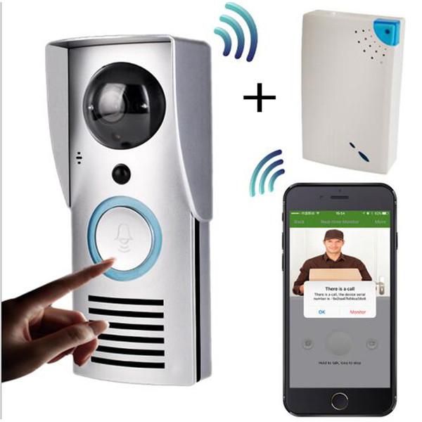 Sıcak WIFI 720 P Video Kapı Zili Kablosuz Kapı Telefonu İnterkom Monitör Akıllı Çan HD Kamera PIR Hareket Sensörü Gece Görüş kilidini