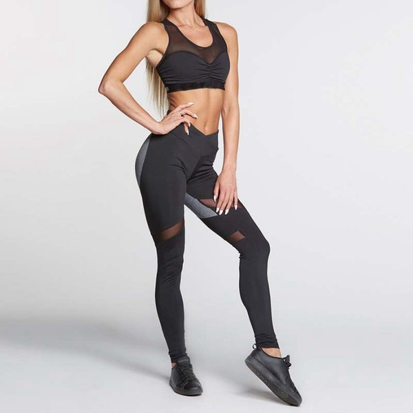selección premium 42574 9fe3f 2019 Heart Patchwork Sport Leggings Mesh Leggins Sport Women Fitness  Running Jogging Workout Pants Ropa Deportiva Mujer Gym From Ahaheng, $39.33    ...
