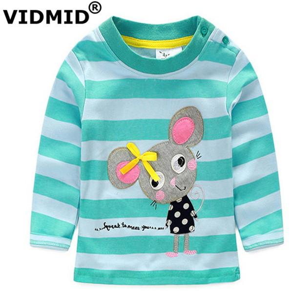 VIDMID 1-6 Jahre Baby-T-Shirt Mädchen-T-Shirt Kinder-T-Shirts Kind Marke Bluse für Mädchen Kinder Kleidung Jacken lange