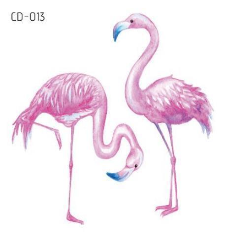 Tatouage temporaire Tatouage Faux Autocollant Flamingo Bird Imperméable Flash Tatouage Tatouage Temporaire Main Pied Bras Pour Fille Femmes Enfants
