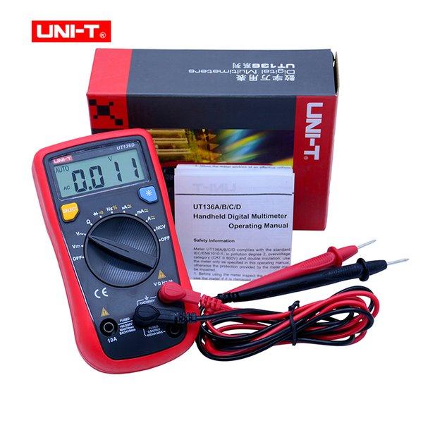 UNI-T UT136A/B/C/D Mini Digital Multimeter AC/DC Voltmeter Ammeter Multi Testers Auto Power Off with Diode HandHeld Multimeter
