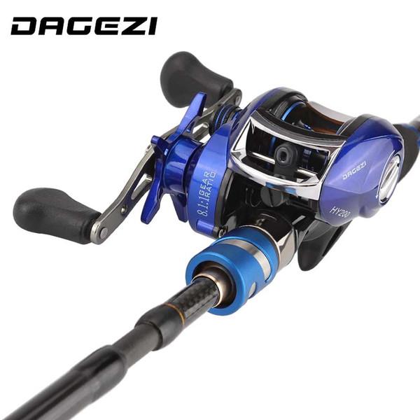 DAGEZI Lure Canne à Pêche Combiné Baitcasting Moulinet Roue Pêche Leurre Combiné Tige 1.8m / 2.1m / 2.4m Tige de lancer + Enrouleur