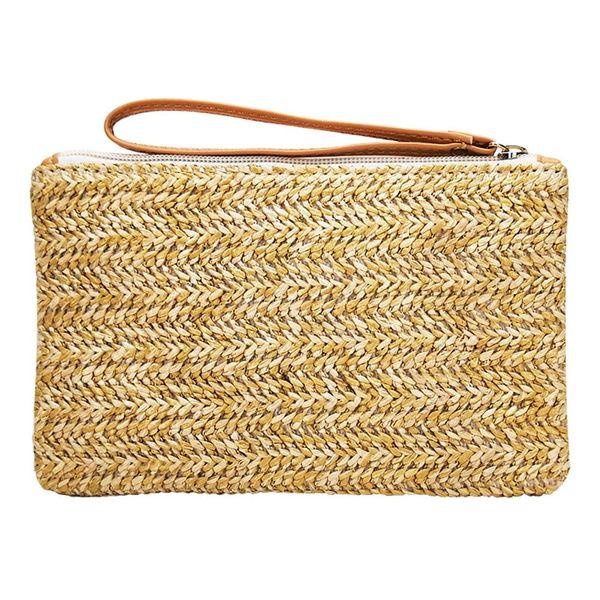 Women Straw Bag New Fashion Beach Clutch Bags Lady Handbag Handmade Rattan Bag Corn Peels Woven Summer Casual Clutch