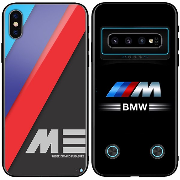 BMW M Power Carbon Fiber Design Glass Phone Case Audi Cover for samsung Note9 s9 s9+ s10 s10+ iphone X XsMAX XR 7 8 plus