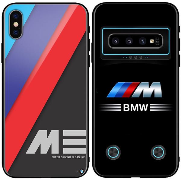 Coque en verre BMW M Power Design Audi pour Samsung Note9 s9 s9 + s10 s10 + iphone X XsMAX XR 7 8 plus
