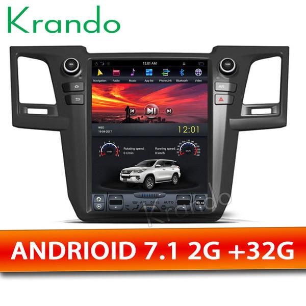 "Krando Android 7.1 10.4"" Tesla Vertical screen car DVD multimedia player GPS for Toyota fortuner Revo 2012-2015 navigation system KD-IQ511"