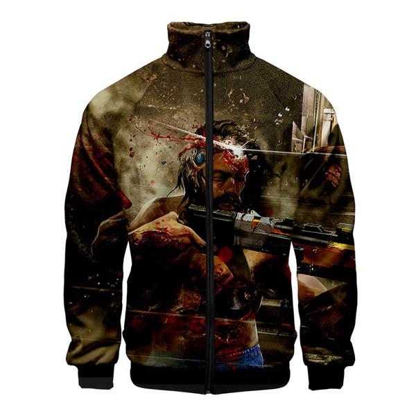 Cyberpunk 2077 3D stampato stand collare giacca con cerniera moda donna / uomo vendita calda 2019 moda trendy abbigliamento streetwear