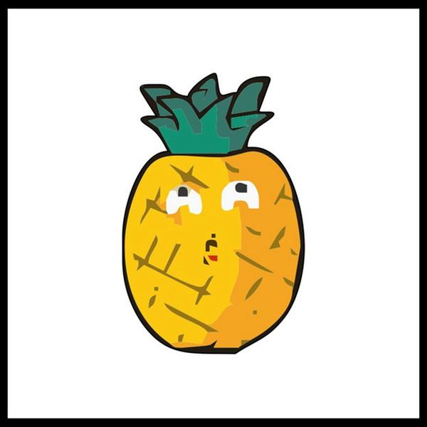 Cartoon Acrylic Brooch Cute Fruit Watermelon Milk Pineapple Badge Japanese Harajuku Badge Matching Artifact Bag Decoration