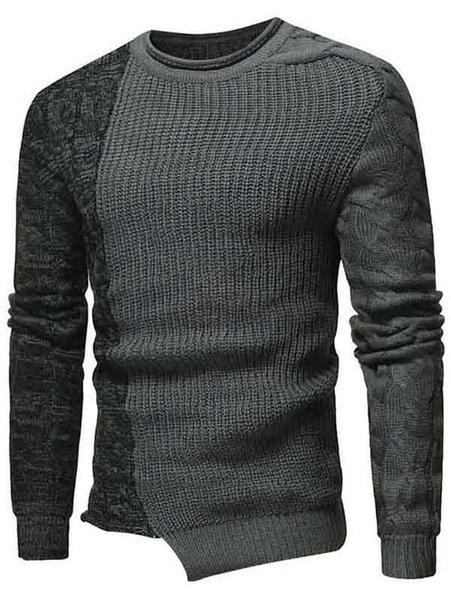 Casual Cable Flat Knit Pullover Sweater
