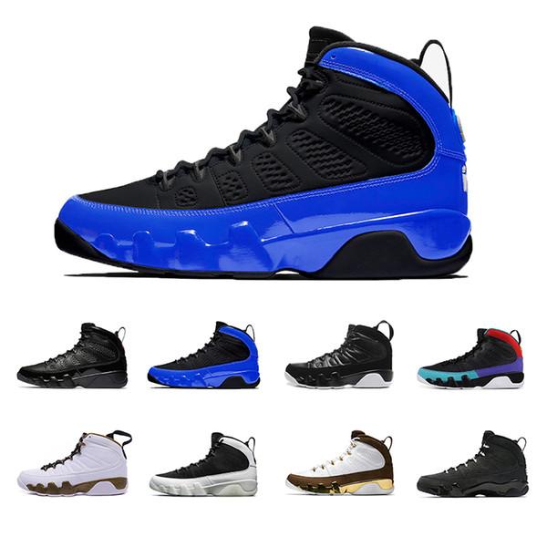 2019 Jumpman 9 Hombres Zapatillas de baloncesto 9s UNC LA Bred Space Jam Tour Azul Negro Antracita Hombres Zapatillas de deporte Zapatillas de deporte de diseño 7-13