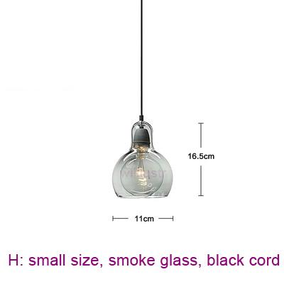 small, smoke glass, black cord