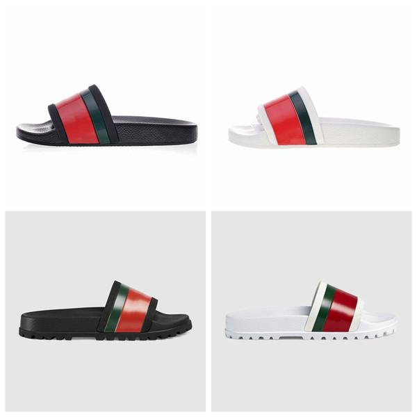 Pantofole Designer Luxury di alta qualità Uomo Estate Gear Fondo spesso Nero Spiaggia di gomma bianca Moda Scuff Indoor Outdoor Shoes Size 39-45