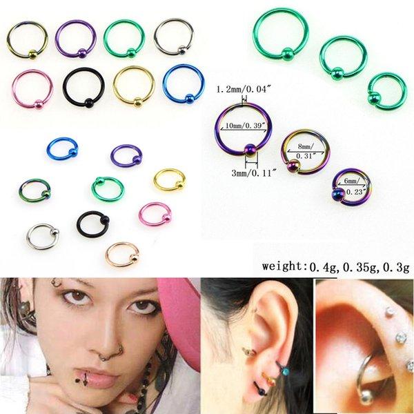 Stainless Steel Body Jewelry Piercing Nose Stud Hoop Ring Men/'s Women/'s Unisex