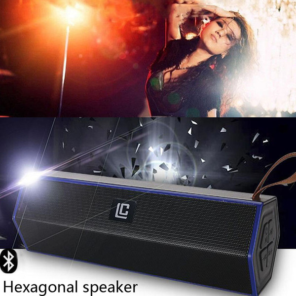 Outdoor Bluetooth Speaker LN-19 Portable Wireless Stereo Speakers Hexagon Hands-free V4.2 Audio MP3 Player Subwoofer Super Bass For phone