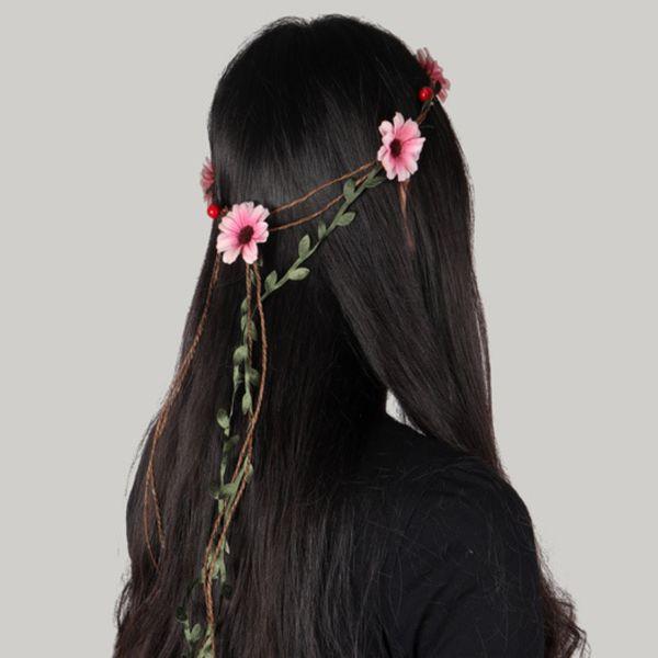 Bohemian Style Hawaii Hair Flowers Headbands Bridal Beach Wedding Party Fasinators Cheap Women Girls Guest Silk Atrifical Flowers Headpieces
