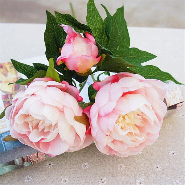 10pcs fake flowers wedding decorative peony silk bouquet decoration artificial flower for farmhouse