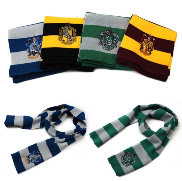 Harry Potter Scarf Gryffindor Slytherin Hufflepuff Ravenclaw Children Kids Cosplay Costumes Props Scarves Halloween Gift OOA7118