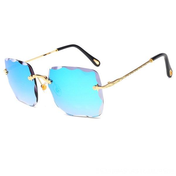 Gold Frame Blue Slice