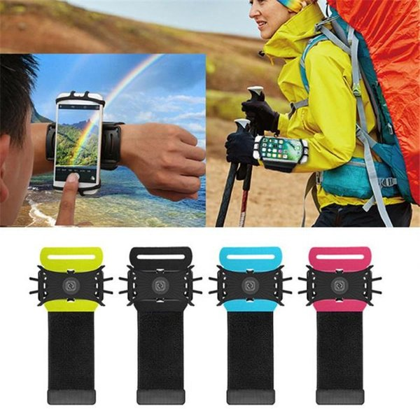 VUP Stretchable Armband Cell Phone Holders For iPhone X XR 8 7Plus Sports Cycling Running 180 Degree Rotatable Adjustable Silicone Wristband