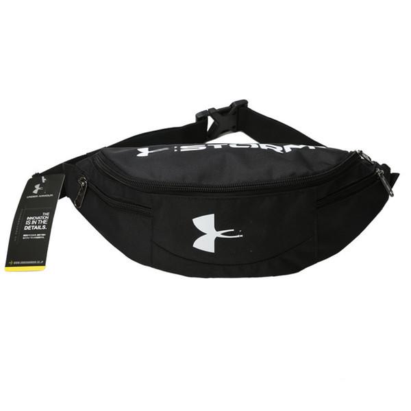 Marca UA Sports Fanny Pack Cinturón bandolera negro Bolso de cintura de las mujeres Hombres Mochila de viaje Sling Bolsa de lona Monedero de la cartera Monederos B71306