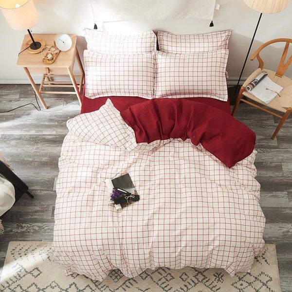 grid bedding wine