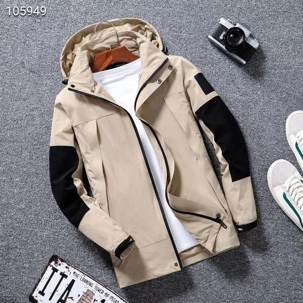 Nova mens Brasão desenhador designer de casaco jaqueta nova com capuz Produção Com Letras Windbreaker Zipper Hoodies For Men Sportwear Tops Roupa