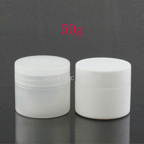 50г с двойными стенками, круглые пустые косметические банки с кремом, 50мл пластиковая банка с кремом, кремовые банки косметическая упаковка, контейнер для консервов