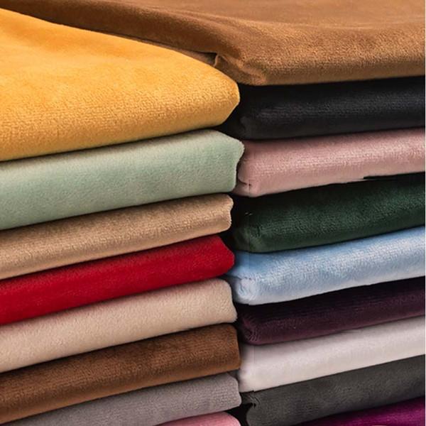 155 * 50 cm de Flanela de veludo tecido de seda De Ouro curto pano de Pano De Costura DIY para cortina sofá travesseiro capa de mesa roupas D20
