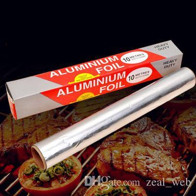 Aluminum Foil roll wrappping sliver paper 30 Square Foot Roll 0.3*10m food safe wrap foil packing paper