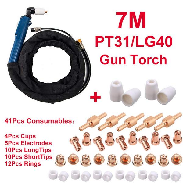 Cortador de plasma PT31 / LG40 Torch 7M 41Pcs Consumibles Punta de electrodo