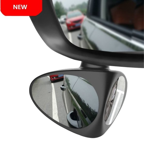 New 1 Piece Car Rear View Mirror Rotatable Adjustable Blind Spot Mirror Convex Wide Angle Mirror front wheel Car mirrors 2 Colors (Retail)