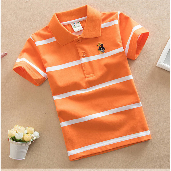good quality Kids Boys New Tees Clothing Baby Boys Summer Cotton Striped Tops Children Casual Short Sleeve Sport T-shirt Clothes