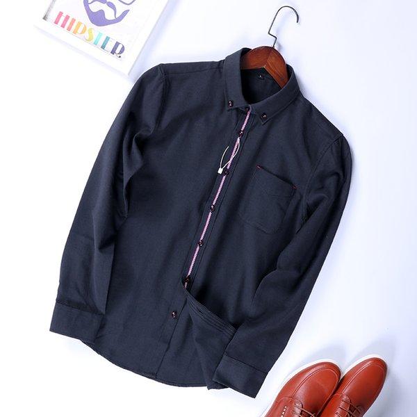 Лао Ван внешней торговли мужские хвосты весна новые рубашки с длинными рукавами мужская мода здоровья красивый бизнес досуг рубашки MC117