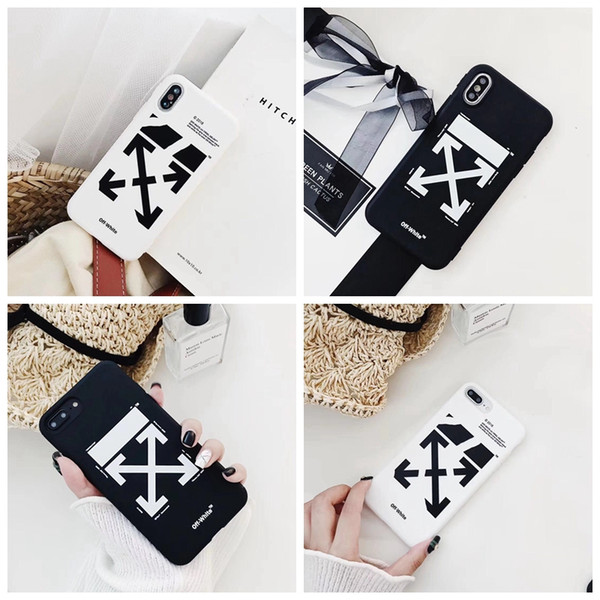 New fashion off Stripes Graffiti Phone Case For iPhone x xs max xr 7 8 Plus Shell Black White Rear Cover For iPhone 6S 6Plus 7Plus X A09