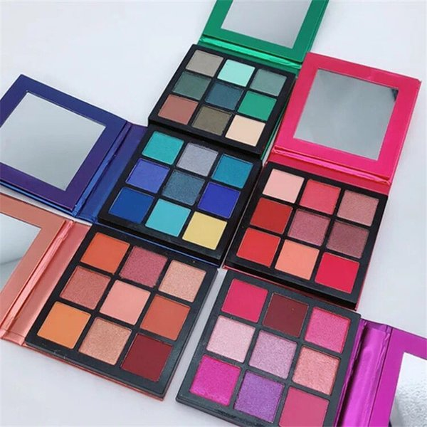 La marca de maquillaje en caliente más nueva Beauty Palette 9 colores mini paleta de sombras de ojos Estilo de 5 colores estrella Sombra de ojos Topaz Amatista Rubí Esmeralda Zafiro