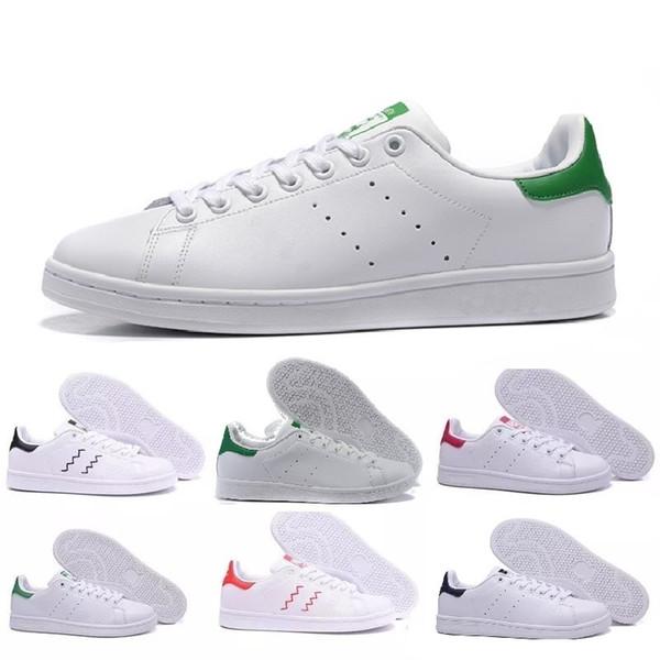 Calidad superior nuevos zapatos stan marca de moda zapatillas smith casual de cuero hombres mujeres deporte zapatillas de deporte zapatillas clásicas zapatos casuales
