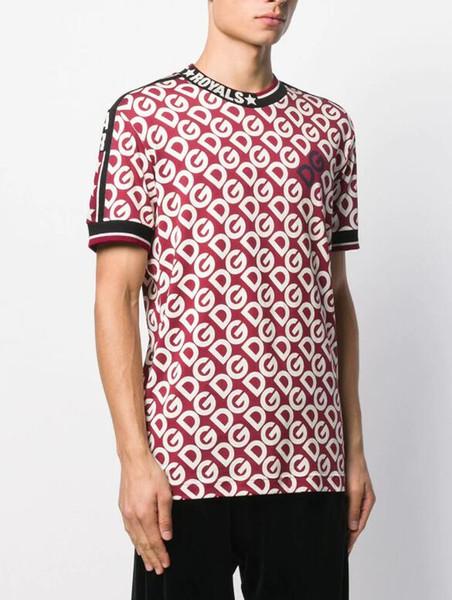 4XL SHIRT NEW Бренды Hip Hop D Письмо Прин мужских футболки шорты хлопок топы тройник рубашка мужчины тройник мужчины, женщины футболки