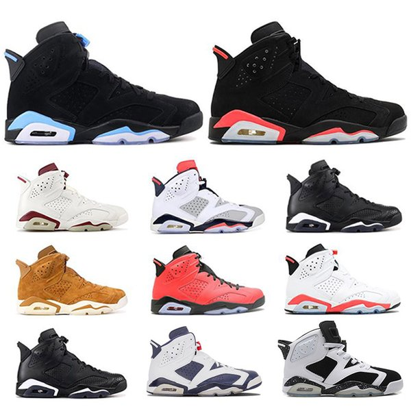 6 basketball shoes Classic 6s black blue white infrared low chrome women men fashion luxury mens women designer sandals shoes