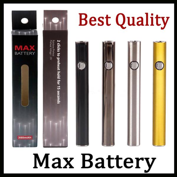 100% original Amigo Max Precalentamiento Batería 380 mAh Voltaje variable VV Carga inferior 510 Batería para Liberty V9 Cartucho de aceite grueso Vs Vmod Law