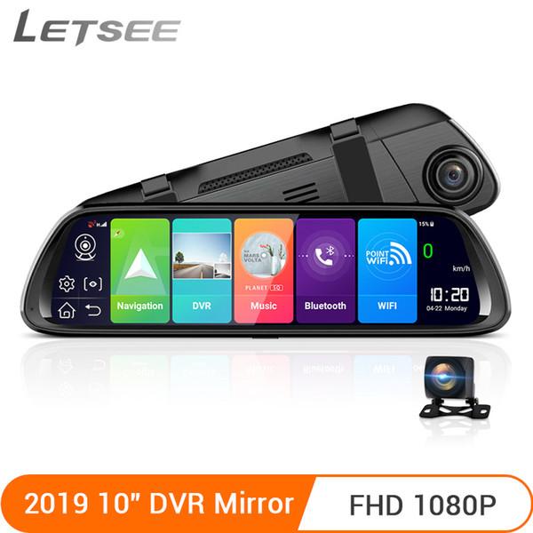 Letsee 4G Android 8.1 ADAS Car DVR Camera FHD1080P Rear View Mirror GPS Dash Cam Registrar Video Recorder